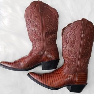 Ariat Whiptail lizard print cowboy western boots